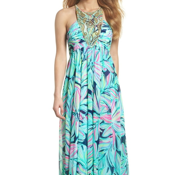 64d2a5c7d60752 Lilly Pulitzer Dresses & Skirts - Lannette Embellished Chiffon Maxi Dress